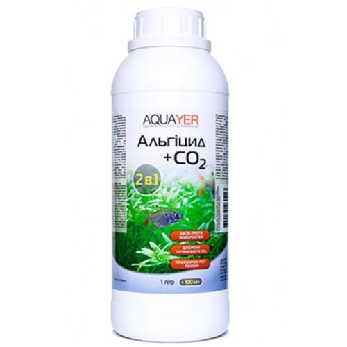 Кондиціонер для боротьби з водоростями AQUAYER Альгіцид + СО2 1Л