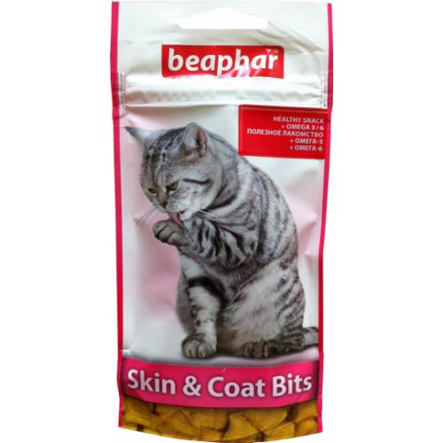 Skin & Coat Bits подушечки для здоровой кожи и красивой и блестящей шерсти котов 35 гр 11438