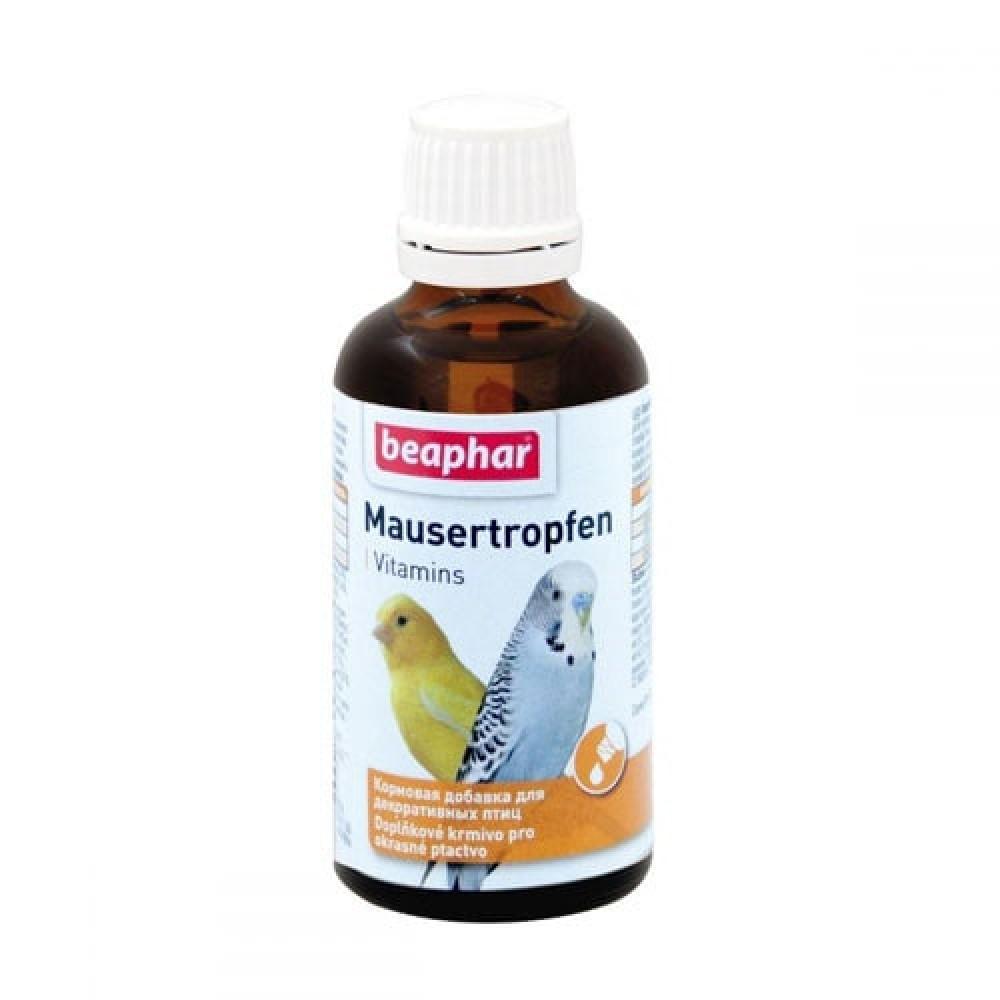 Витаминно-минеральный комплекс Mausertropfen Beaphar для улучшения яркости цвета перьев птиц 50 мл (13225)