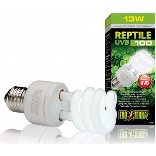 Лампа для тераріуму Exo Terra REPTI GLO 5.0 UVB100 13W Е27 (PT2186)
