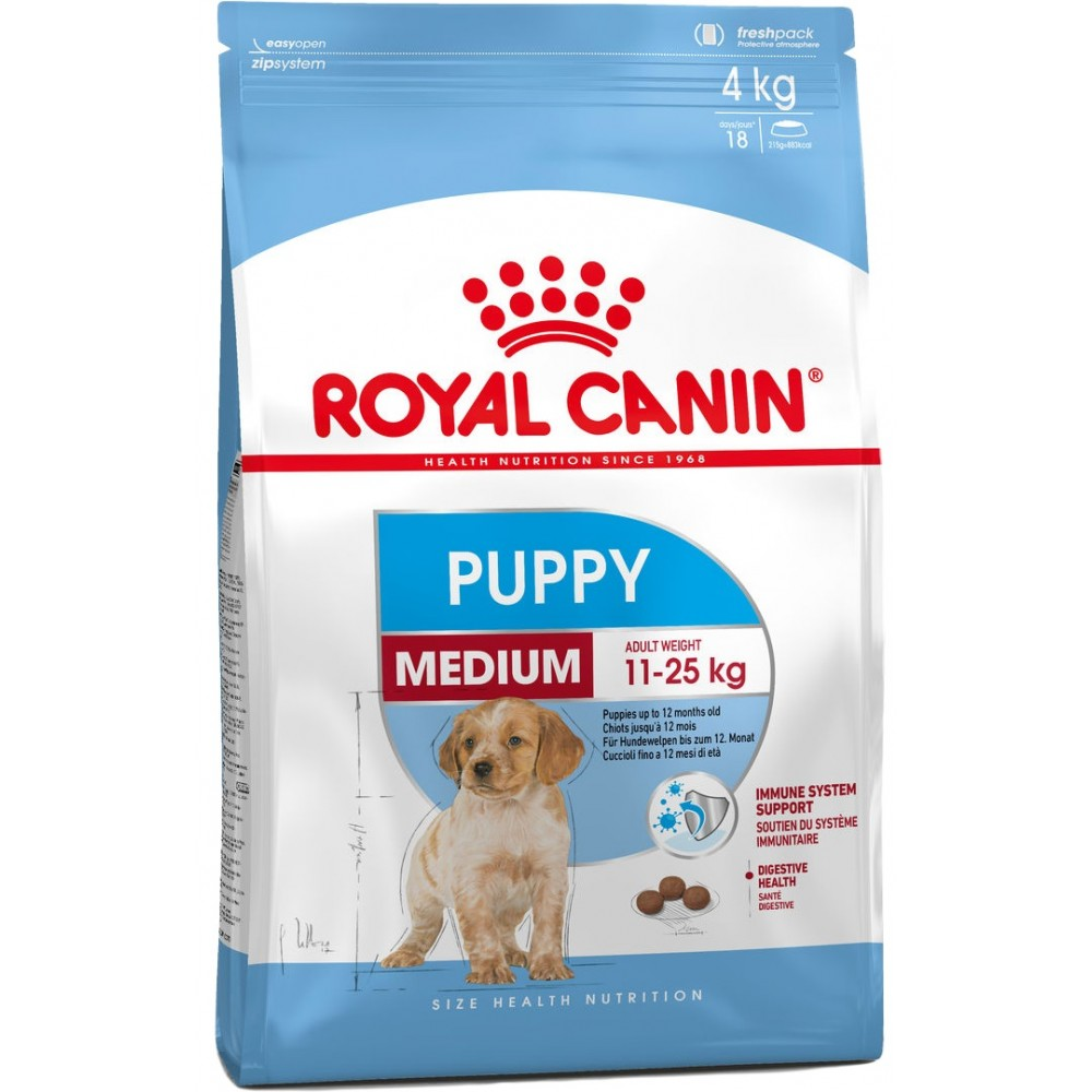 Royal Canin MEDIUM PUPPY, 4 kg