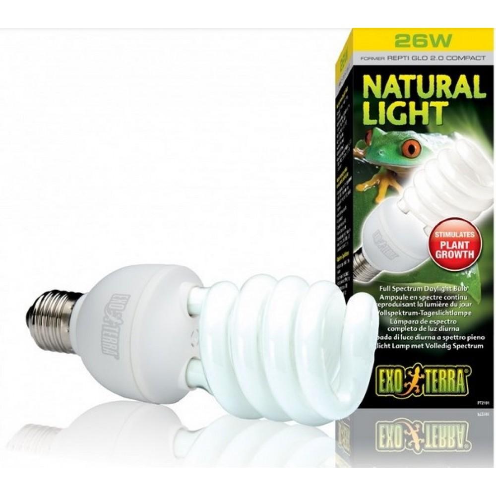 Лампа для террариума Exo Terra REPTI GLO 2.0 Natural Light 26W Е27 (PT2191)