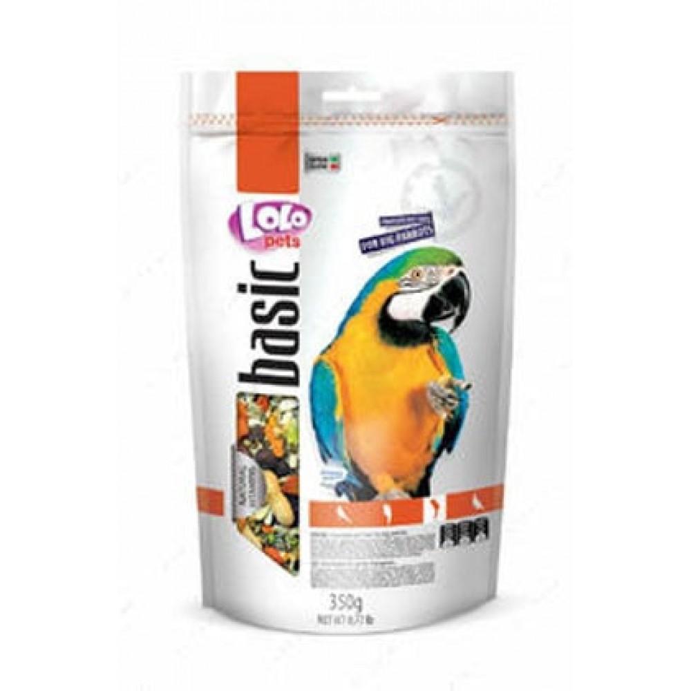 Повнораціонний корм для великих папуг Lolopets Doypack Basic for Parrots фруктовий 350 г (LO-70274)