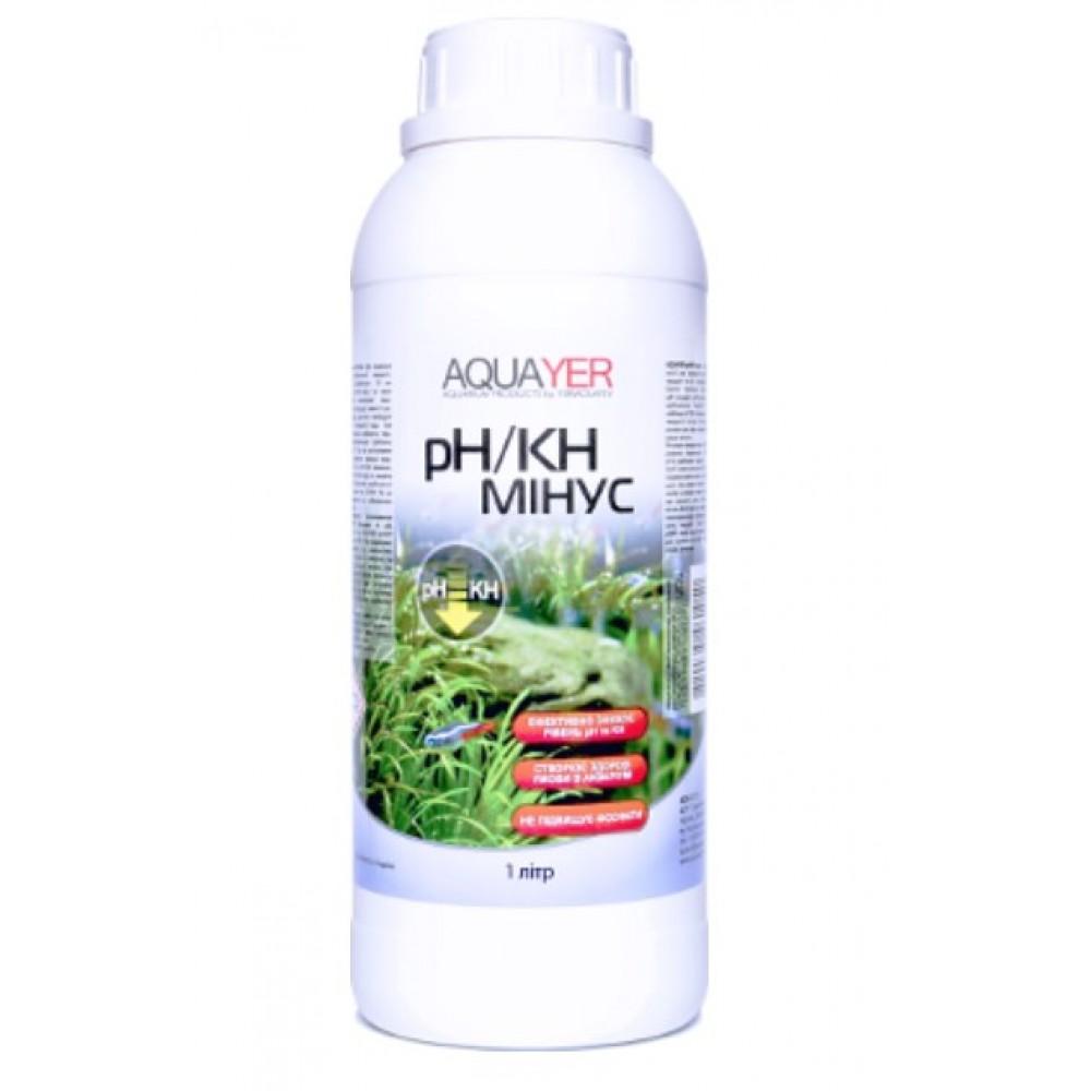 Кондиционер для очистки воды AQUAYER pH/KH минус 1л