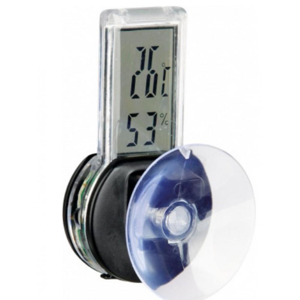 Термометр-гігрометр для тераріуму Trixie електричний на присосці (76115)