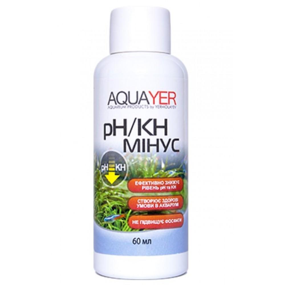 Кондиціонер для очищення води AQUAYER pH / KH мінус 60мл