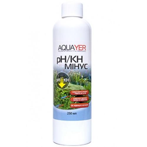 Кондиціонер для очищення води AQUAYER pH / KH мінус 250мл