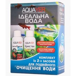 Кондиционер для подготовки воды AQUAYER Комплекс Идеальная вода 2х60мл