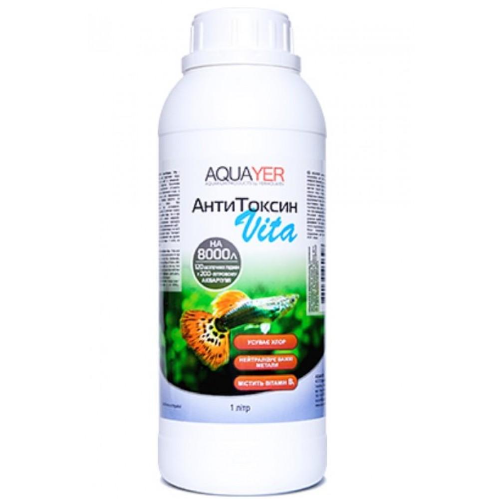 Кондиционер для подготовки воды AQUAYER Антитоксин Вита 1000мл