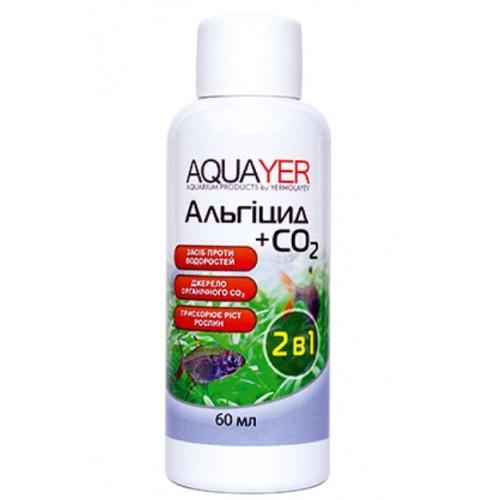 Кондиціонер для боротьби з водоростями AQUAYER Альгіцид + СО2 60мл