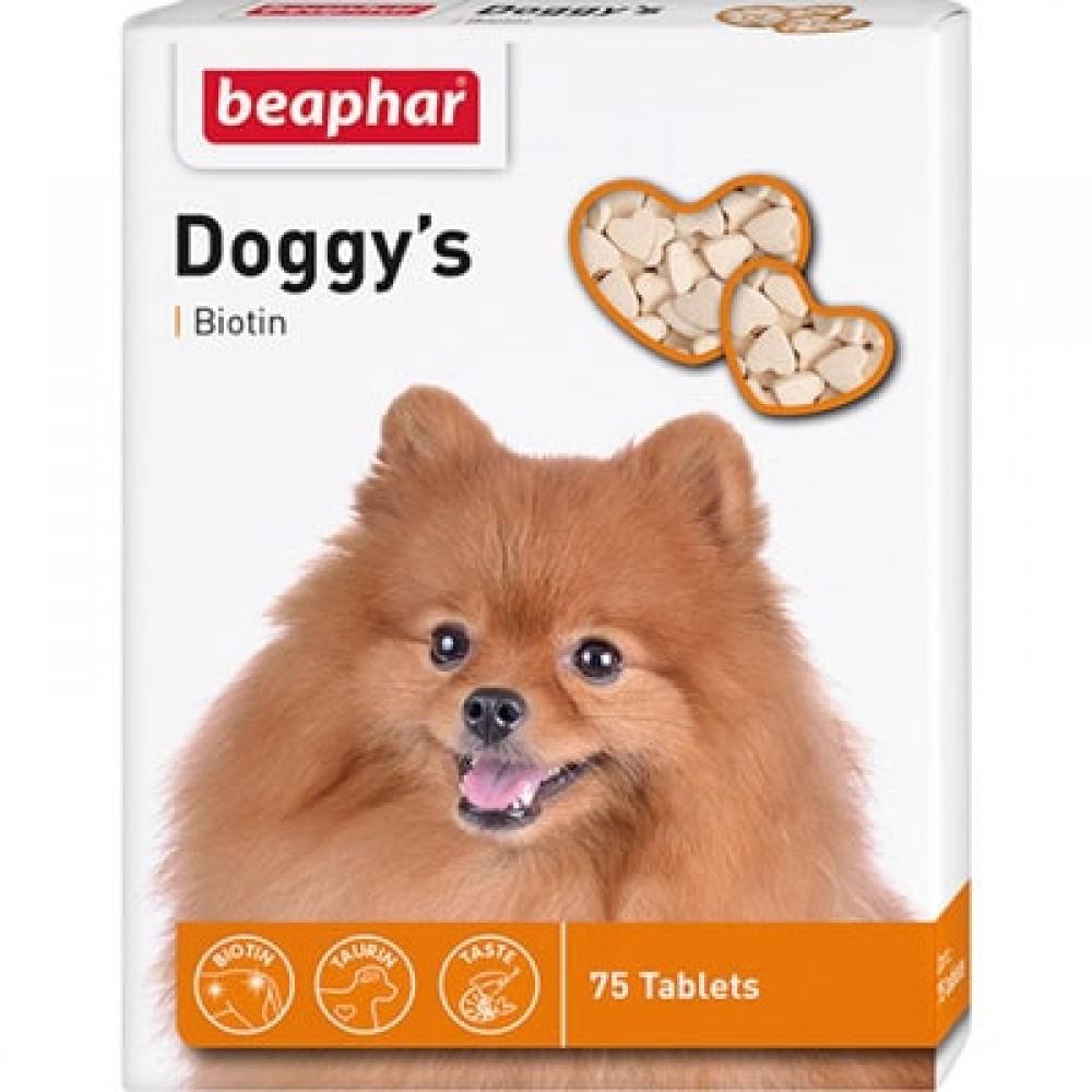 Вітамінізовані ласощі для собак з біотином Beaphar Doggy's Biotin 75 таб. (12507)