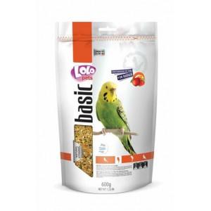 Повнораціонний корм для папуг Lolopets Doypack фруктовий 600 г (LO-70215)
