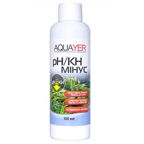 Кондиціонер для очищення води AQUAYER pH / KH мінус 100мл